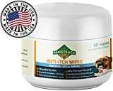 Anti-Itch Wipes for Dogs + Cats, Ketoconazole + Aloe - 50 Pads - Cat + Dog Hot Spot Treatment, Mange, Ringworm, Yeast Infection, Allergy Itch Relief, Acne, Deodorizer Antibacterial Antifungal, USA Larger Image