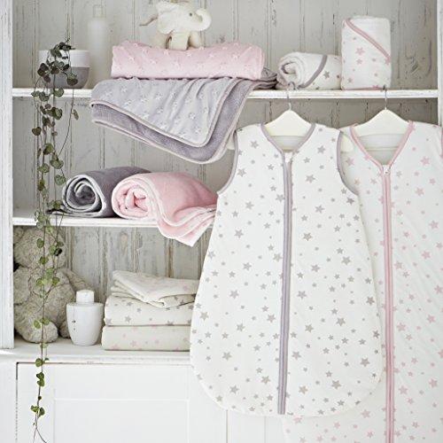 -[ Silentnight Safe Nights Cot Bed Duvet Cover & Pillowcase Set, Grey Stars  ]-