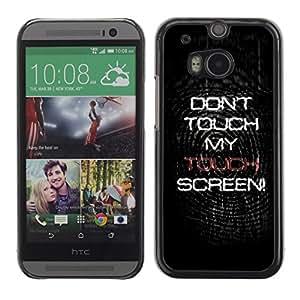 For HTC One M8 - Don't Touch My Screen /Caja protectora de pl???¡¯????stico duro de la cubierta Dise???¡¯???¡Ào Slim Fit/ - Super Marley Shop -