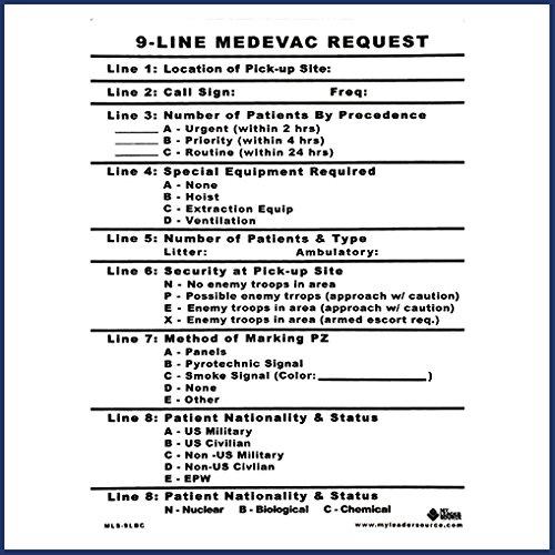 Amazoncom 9 Line Medevac Card Everything Else