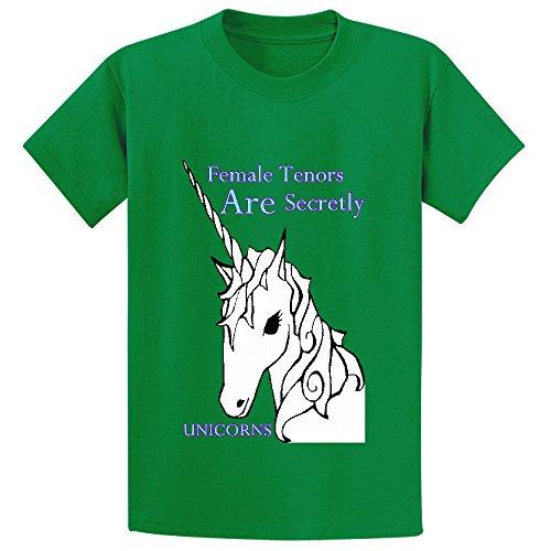female-tenors-are-secretly-unicorns-unisex-crew-neck-cotton-t-shirt-green