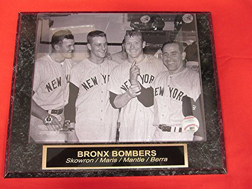 Mickey Mantle Roger Maris Yogi Berra Moose Skowron Collector Plaque w/8x10 ()