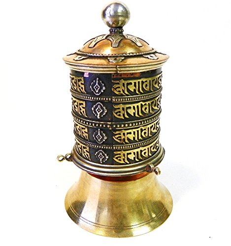 Buddhist Prayer Wheel (F585b Very Artistic Stand Tibetan Prayer Wheel