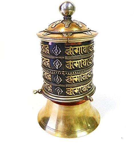 "F585b Very Artistic Stand Tibetan Prayer Wheel ""Om Mane Padme Hum"" Hand Crafted in Nepal"