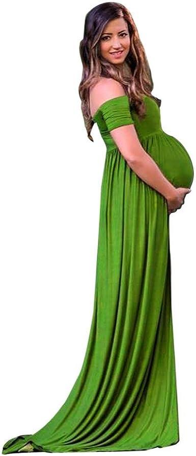 DAY8 Robe Femme Enceinte /Ét/é Longue V/êtement Femme Enceinte Grande Taille Chic Soiree Mode Robe Femme Enceinte Photographie Mariage Ceremonie Bustier Maxi Robe Maternit/é Grossesse