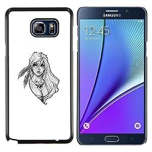Jordan Colourful Shop - Blonde Warrior Woman For Samsung Note 5 N9200 N920 Personalizado negro cubierta de la caja de pl????stico