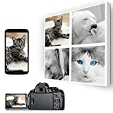 Square Collage 4 Picture Personalised Canvas Photo Print - UV Protected (20x20)