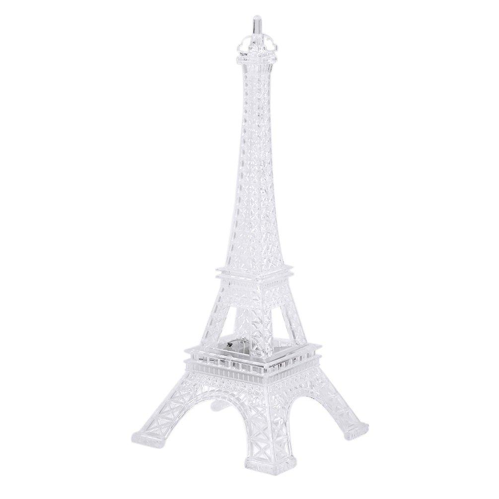 Hehilark L/ámpara de Mesa de Escritorio Luminosa de la Torre Eiffel 7 Cambio de Color de Ambiente luz decoraci/ón Nocturna l/ámpara LED Gran Regalo