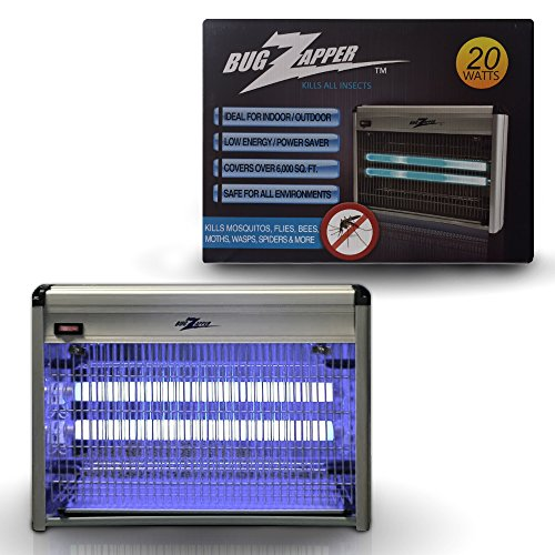 Bug Zapper Mosquito Indoor Outdoor Electric ,Bug, Fly, Mite, Gnat & Other Pests Insect Killer Powerfull 2800V 20w UV Light Covers UP TO 6,000 Sq Feet