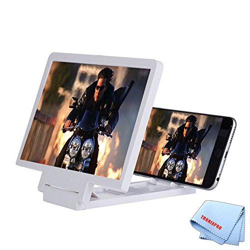 Tronixpro 3x Zoom Screen Enlarger for Mobile Phones + Microfiber Cloth