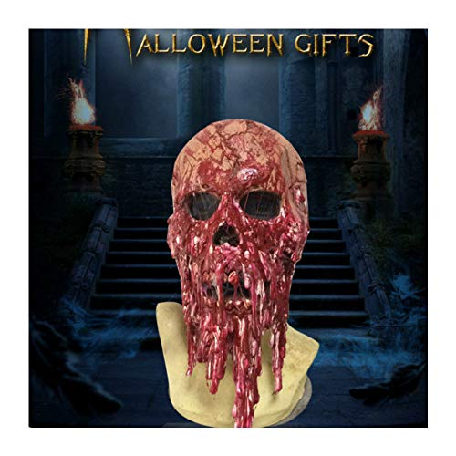 Dealer Cheaper Bloody Melting Face Scary Mask Face Latex Costume Halloween Holiday -