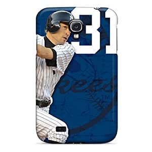 Shockproof Hard Phone Covers For Samsung Galaxy S4 With Allow Personal Design HD New York Yankees Image Marycase88