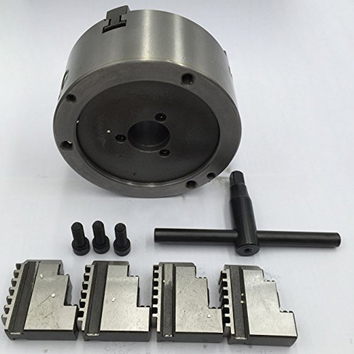 125MM 4 Jaw 5 Inch Self-Centering CNC Metal Lathe Chuck Hardened Steel for CNC Metal Drill Milling Machine (Milling Power Chuck)