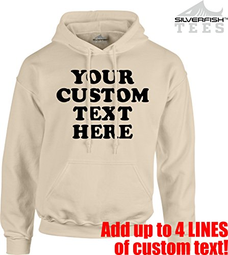 Customized Your Text Here Personalized Custom Novelty Pullover Hoodie Sweatshirt ()