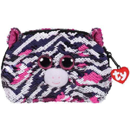 (TY Fashion Flippy Sequin Accessory Bag - Zoey The Zebra (8 inch))