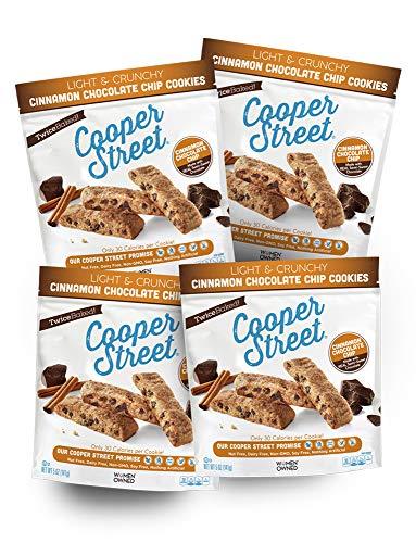 Cooper Street Cookies Cinnamon Chocolate Chip Biscotti Cookies, 5 Ounce Bags (Pack of 4)