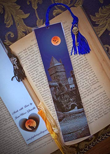 Spooky Gothic Château de Fougères French Castle Autumn Fall Halloween Scary Brittany France Europe 10th Century Fine Art Photography Photo Laminated Handmade Bookmark