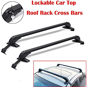 Amazon Com Pair Of Car Top Roof Rack Cross Bars Lockable