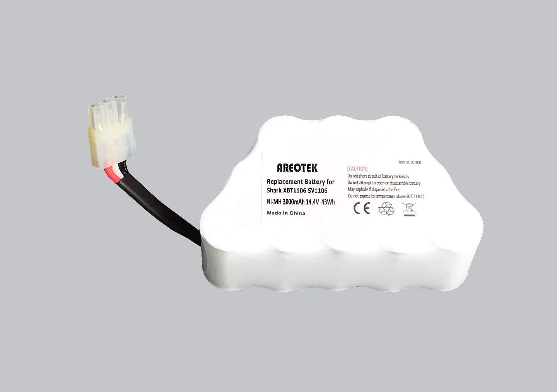 Areotek 14.4V 3000mah Replacement Battery Compatible for Shark XBT1106N SV1110 SV1106N SV1110N SV11O6N SV116N Freestyle Navigator Cordless Stick Vacuum Coaster