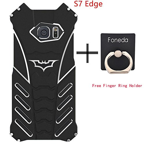 Personalized Fashion Batman Phone Protect Shell Shockproof Anti-drop Aluminum Metal Military Grade Drop Tested Bumper Cool Design Back Cover for Samsung Galaxy S7 Edge