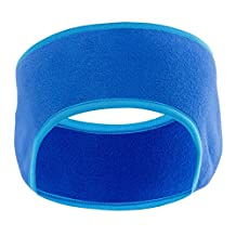 MsFeng Polar Fleece Headband / Ear Warmers - Windproof Running Sport Headband Earmuffs - Stay Warm & Cozy with our Ultimate Thermal Retention & Performance Moisture Wicking (Blue)