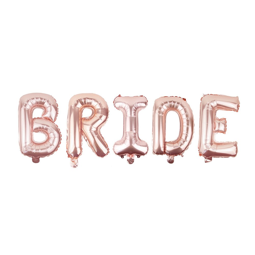 TRIXES Rose Gold Bride to be Party Letter Foil Balloon 16inch