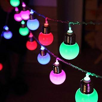 Luces de Cadena de Jardín Solar, 4M 10 LED Bombilla de luz de Fondo Luces a Prueba de Agua con 2 Modos de Iluminación para Exteriores, Jardín, Decoraciones Navideñas: Amazon.es: Iluminación