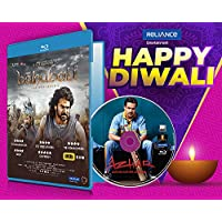 Bahubali (Hindi) + Azhar - 2 Hindi Movies (2 Blu-ray bundle offer)