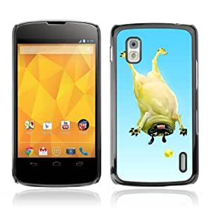 YOYOSHOP [Funny Pug & Tennisball] LG Google Nexus 4 Case
