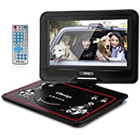 10.5-Inch Portable DVD Player, LDesign Headrest DVD Player for Car with Swivel Screen, 5-Hour Rechargeable Battery, SD Card & USB Port Read, Remote Control, Multi Media Play and Charge in Car Support