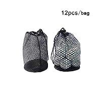 Forfar Golf Mesh Bag Pouch Table Tennis Portable Storage Drawing String Closure Golf Ball Holder 12/25/50 Balls accessories