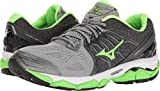 Mizuno Men's Wave Horizon Running Shoe, Dark Slate/Green Flash, 7 D US
