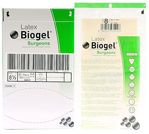 Biogel Surgeons Gloves - Latex Powder Free - Sterile - 8.5 (50 Pairs) by Biogel
