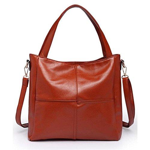 AASSDDFF Famous Brand Ladies PU Bolsa Moda Mujeres Messenger Bags Diseñador de la Alta Calidad Mujeres Bolso Crossbody Bolsa Mujer Tote Bolsos, Oro marrón