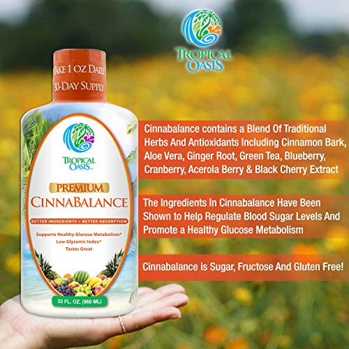 Cinnabalance – Liquid Cinnamon Supplement w/ Cinnamon Bark, Aloe Vera, Ginger Root, Green Tea & Antioxidants - Promotes healthy blood sugar support & glucose levels - 32 oz, 32 servings by Tropical Oasis (Image #4)