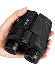 Occer 12x25 Compact Binoculars with Clear Low Light Vision, Large Eyepiece High Power Waterproof Binocular Easy Focus for Outdoor Hunting, Bird Watching, Travel, Hiking, Fit for Adults and Kids
