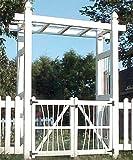 Dura-Trel Courtyard Arbor with Gate