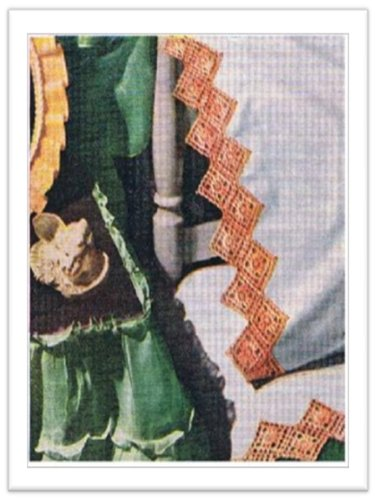 #1102 MOTIF PILLOWCASE EDGING VINTAGE CROCHET PATTERN (Pillowcase Crochet)