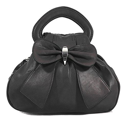 Top Multiple Ydezire Chic Handbag Grab New Bag Small Womens Bow Uk Pockets Style Black Zip T4tItx