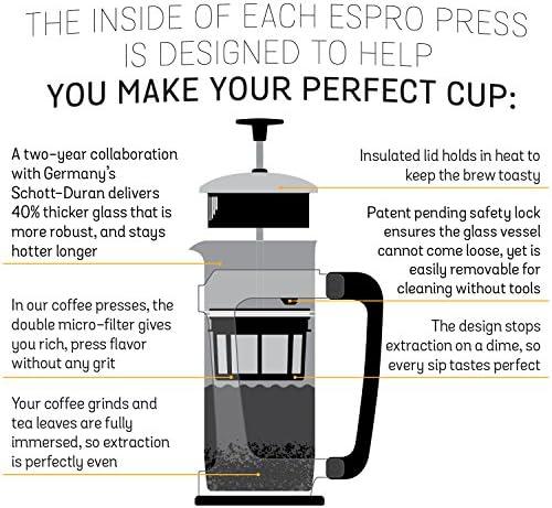 diff/érentes variations 1 l Espro Press P5 pour caf/é cuivr/é