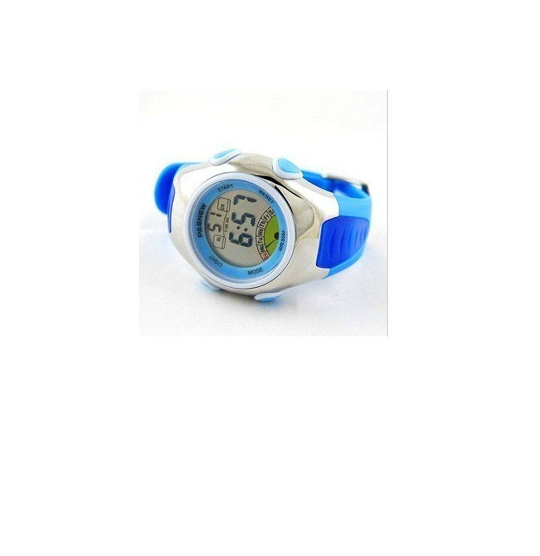 Fashion Waterproof Children Boys Girls LCD Digital Sport Watch with Alarm, Chronograph, Date (Blue) by OJIA