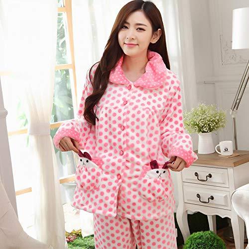 Cálido Dormir Pijamas Larga Manga Mujer De Conjunto Q Mujeres Y Madre Noche Jylw Estampado R Juegos Flores Invierno Traje Fen Cómodo 850 7Yqwxdw6P