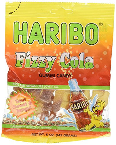 Haribo Fizzy Cola Gummi Candy 5.0 OZ(Pack of 2)