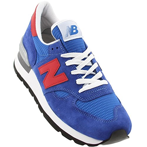 New Balance 990 Série Made In Usa Chaussures Pour Hommes Bleu / Rouge
