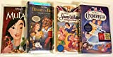 Disney VHS Princess 4 Pack--Mulan, Beauty and the Beast, Snow White, and Cinderella