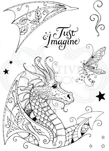 Pink Ink Designs A5 Clear Stamp Set Dragon