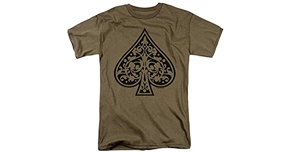 TRIBAL ACE OF SPADES CARD Adult T-Shirt All Sizes