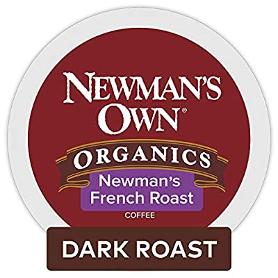 Newman's Own Organics French Roast Coffee, 72 Count (Packaging May Vary)