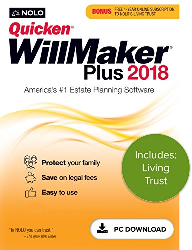 Software : Quicken WillMaker Plus 2018 & Living Trust [PC Download]