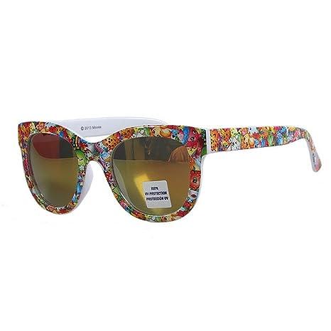 Preciosas gafas de sol de colores para niños Protección UV ambiental Gafas de sol de impresión ...